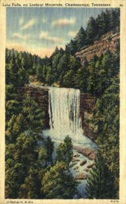 Lula Falls, Lookout Mountain  - Chattanooga, Tennessee TN Postcard