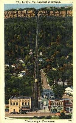 The Incline Up, Lookout Mountain - Chattanooga, Tennessee TN Postcard