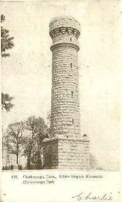 Wilder Brigade Monument  - Chattanooga, Tennessee TN Postcard