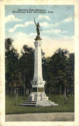 Kentucky State Monument  - Chattanooga, Tennessee TN Postcard