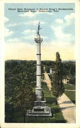 Illinois State Monument - Chattanooga, Tennessee TN Postcard