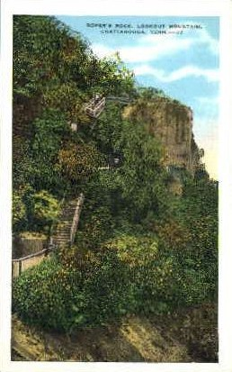 Roper's Rock, Lookout Mountain  - Chattanooga, Tennessee TN Postcard