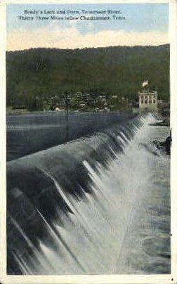Brady's Lock & Dam  - Chattanooga, Tennessee TN Postcard