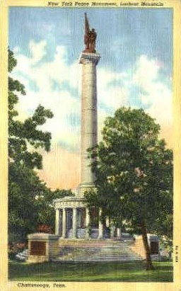 New York Peace Monument - Chattanooga, Tennessee TN Postcard