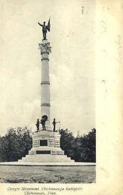 Georgia Monument  - Chattanooga, Tennessee TN Postcard