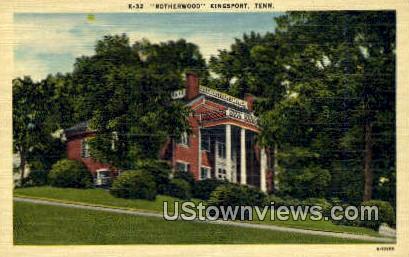 Rotherwood - Kingsport, Tennessee TN Postcard