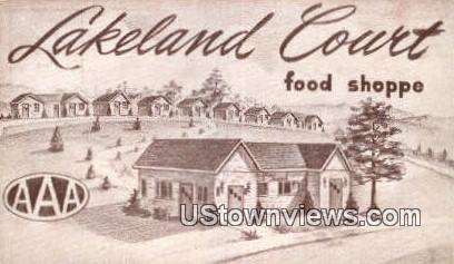 Lakeland Court & Food Shoppe - Rockwood, Tennessee TN Postcard