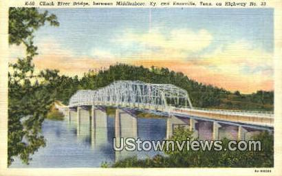 Clinch River Bridge - Knoxville, Tennessee TN Postcard