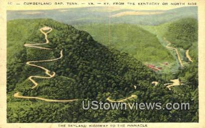 Skyland Highway - Cumberland Gap, Tennessee TN Postcard