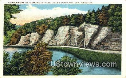 Seven Sisters, Cumberland River - Cumberland Gap, Tennessee TN Postcard