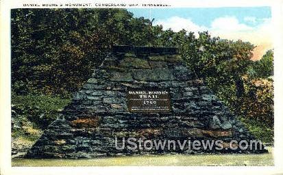 Daniel Boone's Monument - Cumberland Gap, Tennessee TN Postcard