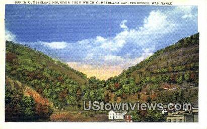 Cumberland Mountain - Cumberland Gap, Tennessee TN Postcard