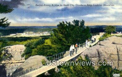 Swing Along Bridge, Rock City Gardens - Lookout Mountain, Tennessee TN Postcard