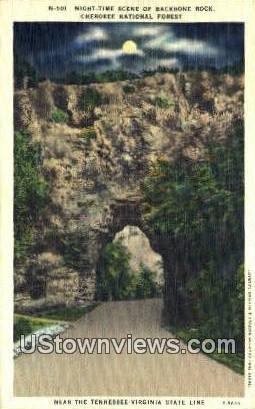 Backbone Rock - Cherokee National Forest, Tennessee TN Postcard