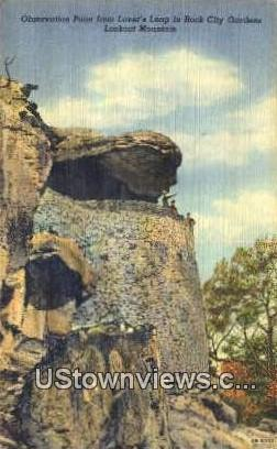 Observation Point, Lover's Leap - Lookout Mountain, Tennessee TN Postcard