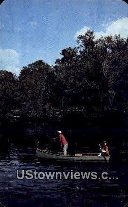 Fishing on the Old Suwannee - Misc, Tennessee TN Postcard