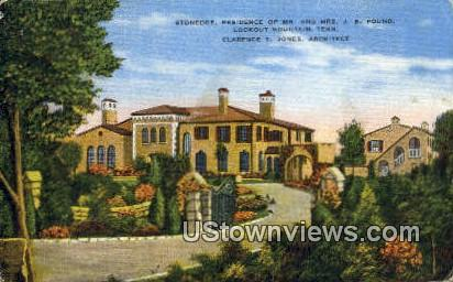 Residence of Mr. & Mrs. JB Pound - Lookout Mountain, Tennessee TN Postcard