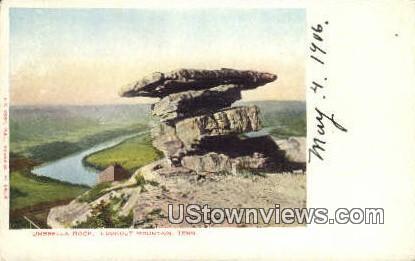 Umbrella Rock - Lookout Mountain, Tennessee TN Postcard