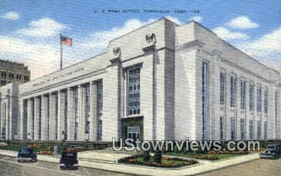 US Post Office - Knoxville, Tennessee TN Postcard