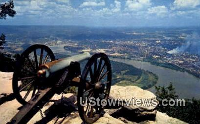 Confederate Battery - Lookout Mountain, Tennessee TN Postcard