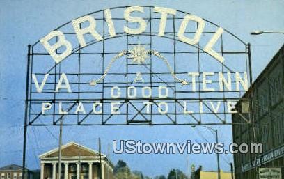 Bristol Sign, State Street - Tennessee TN Postcard