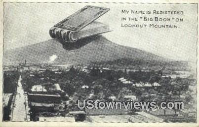 Big Book - Lookout Mountain, Tennessee TN Postcard