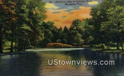 Rainbow Lake, Overton Park - Memphis, Tennessee TN Postcard