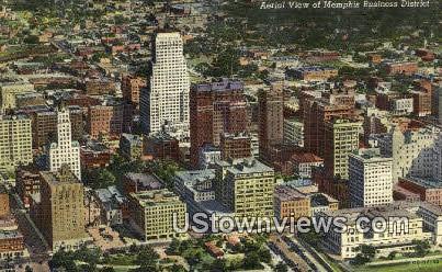 Memphis Business District - Tennessee TN Postcard