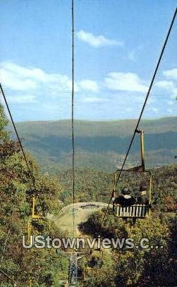 Ski Lift - Gatlinburg, Tennessee TN Postcard