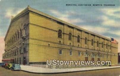 Municipal Auditorium - Memphis, Tennessee TN Postcard