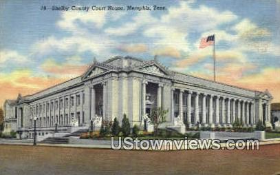 Shelby County Courthouse - Memphis, Tennessee TN Postcard