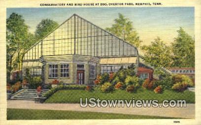 Conservatory & Bird House, Zoo - Memphis, Tennessee TN Postcard