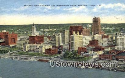 Mississippi River - Memphis, Tennessee TN Postcard