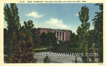 Boys Dorm, Milligan College - Tennessee TN Postcard