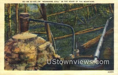 Moonshine Still - Misc, Tennessee TN Postcard