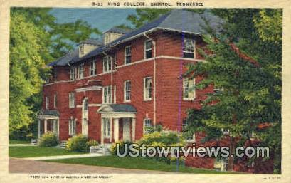 King College - Bristol, Tennessee TN Postcard