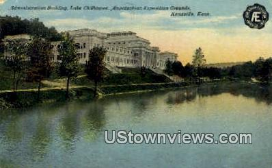 Admin Bldg, Lake Chilowee - Knoxville, Tennessee TN Postcard