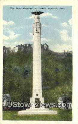 Ohio Peace Monument - Lookout Mountain, Tennessee TN Postcard