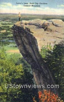 Lover's Leap, Rock City - Lookout Mountain, Tennessee TN Postcard