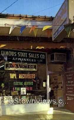 Famous State Sales Co - Misc, Tennessee TN Postcard