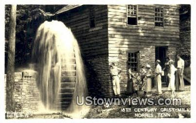 Real Photo - 18th Century Grist Mill - Norris, Tennessee TN Postcard