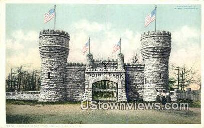 Entrance To Point Park  - Lookout Mountain, Tennessee TN Postcard