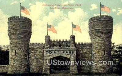Entrance Gate Into Point Park  - Lookout Mountain, Tennessee TN Postcard