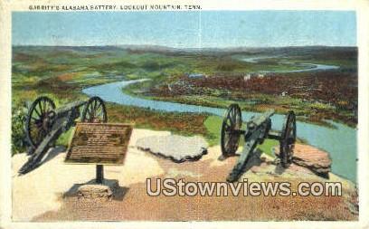 Garritys Alabama Battery - Lookout Mountain, Tennessee TN Postcard