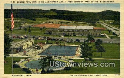 Fred Johnson Park  - Kingsport, Tennessee TN Postcard