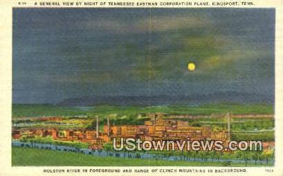 Eastman Corporation Plant  - Kingsport, Tennessee TN Postcard