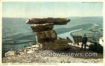 Umbrella Rock Lookout Mountain  - Tennessee TN Postcard