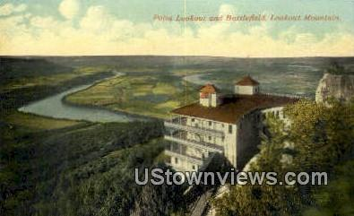 Point Lookout and Battlefield  - Lookout Mountain, Tennessee TN Postcard