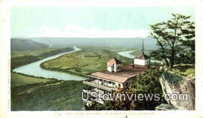 Point Hotel and The Battlefield  - Lookout Mountain, Tennessee TN Postcard