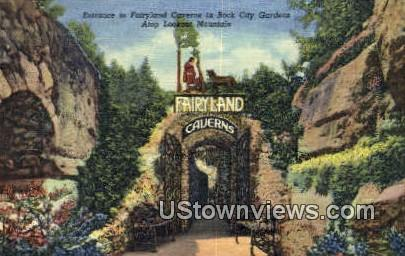 Fairyland Caverns In Rock City Gardens  - Lookout Mountain, Tennessee TN Postcard